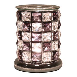 Touch Crystal Wax/Oil  Burner Black/Clear