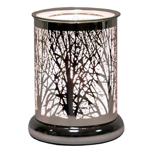 Touch Wax/Oil Burner Forest-Silver