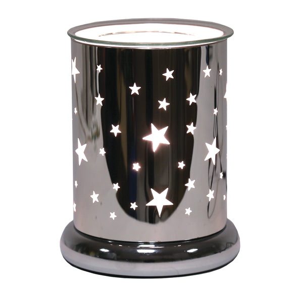Touch Wax/Oil Burner Star-Silver