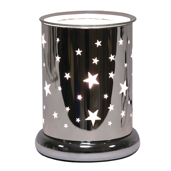 Silver Star- Wax/Oil burner touch lamp