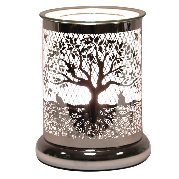 Silver Tree of Life -Wax/Oil  Burner Touch lamp