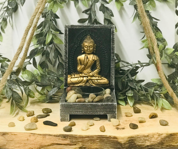 Buddha Wooden T-light holder