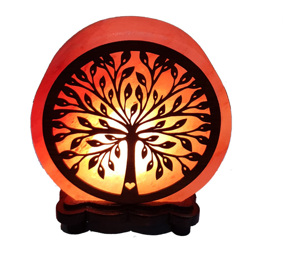 Tree of life-Pattern Salt Lamp