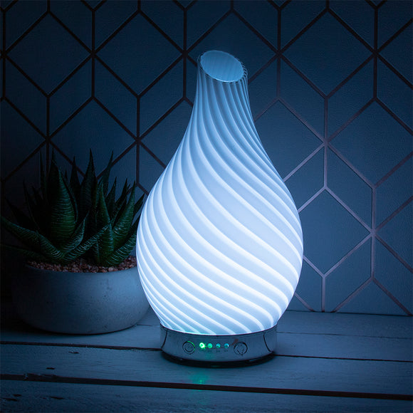 Ultrasonic Room Diffuser- White Glass
