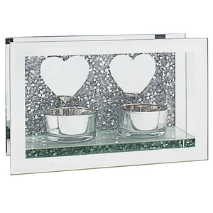 MULTI CRYSTAL MIRROR HEART T-LIGHT