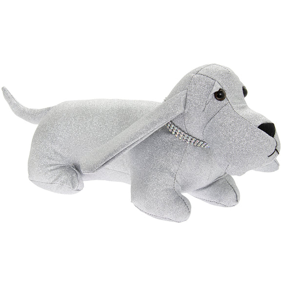 SILVER BLING DOG DOORSTOP