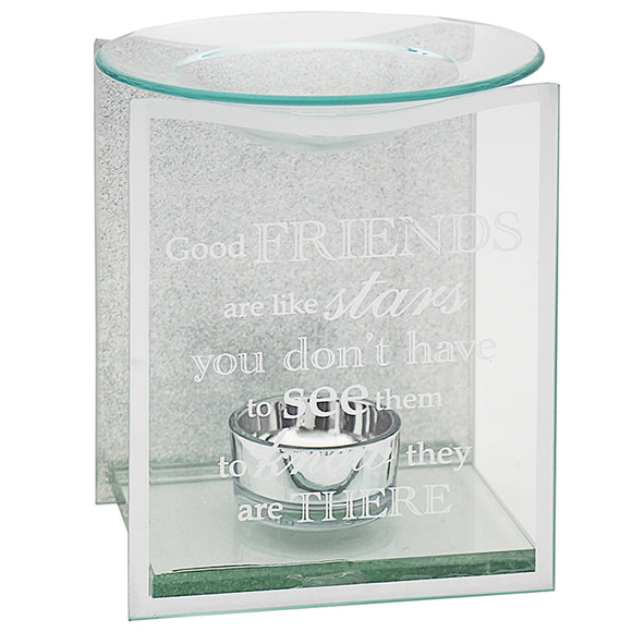 SENTIMENTS MIRROR FRIEND OIL/WAX BURNER
