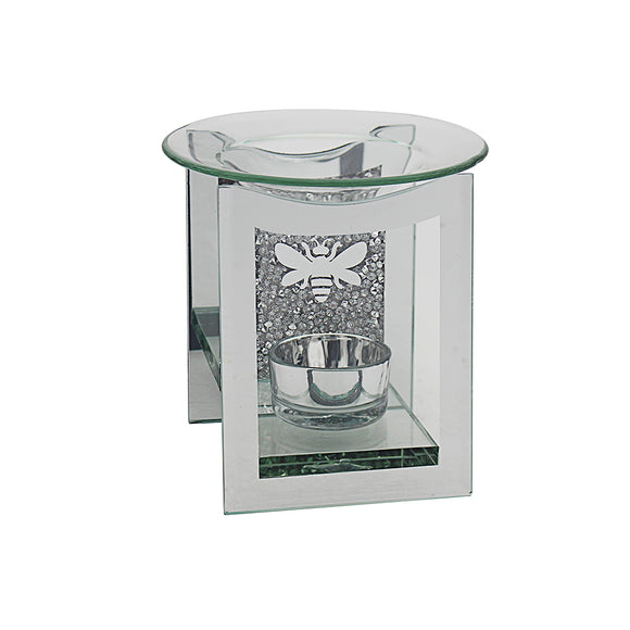 MIRROR CRYSTAL OIL/WAX BURNER BEE