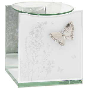 Mirror Butterfly Glitter Glass Oil Burner