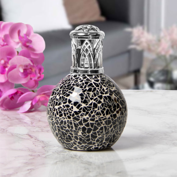 Mosaic Fragrance Oil Burner Lamp- Black