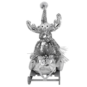 REINDEER SILVER WITH SLEIGH