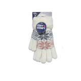 Woolly Snowflake Design Gloves