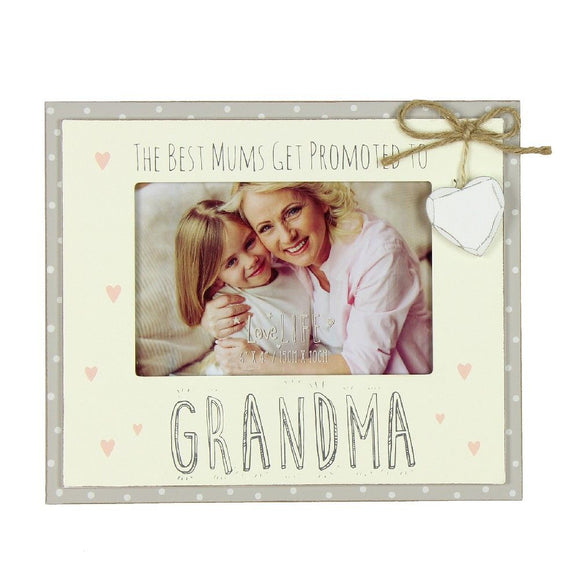 Promoted to Grandma- Love Life Photo Frame