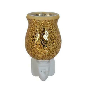 Gold Crackle Tulip-Plug in Mosaic wax warmer