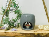 Wax/Oil Burner-Flower design-Grey-White-Pink