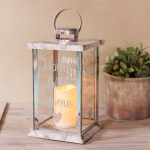 Glass Marble Effect LED Candle Lantern