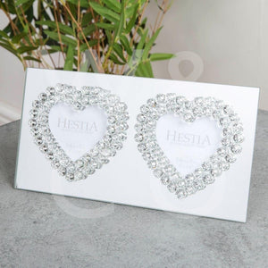 Mirror Glass Photo Frame Heart Design