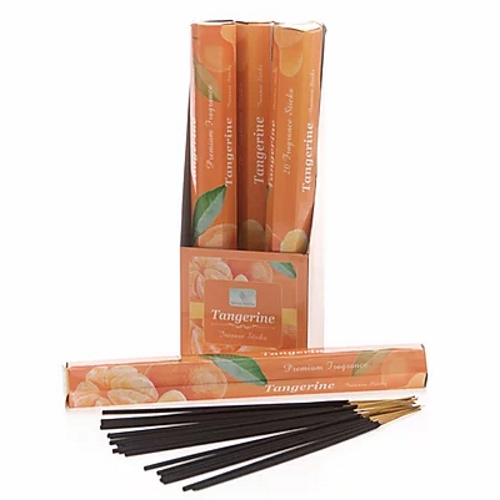 Tangerine Incense Sticks-Carton of 6 packs-Each Pack contains 20 x sticks
