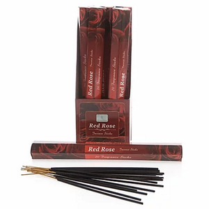 Rose Incense Sticks-Carton of 6 packs- Each Pack contains 20 x sticks
