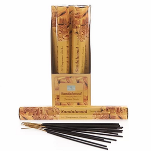 Sandalwood Incense Sticks- Carton of 6 packs- Each Pack contains 20 x Sticks.