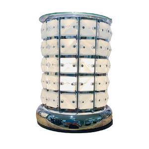 Clear Crystal Wax/Oil Burner Touch Lamp