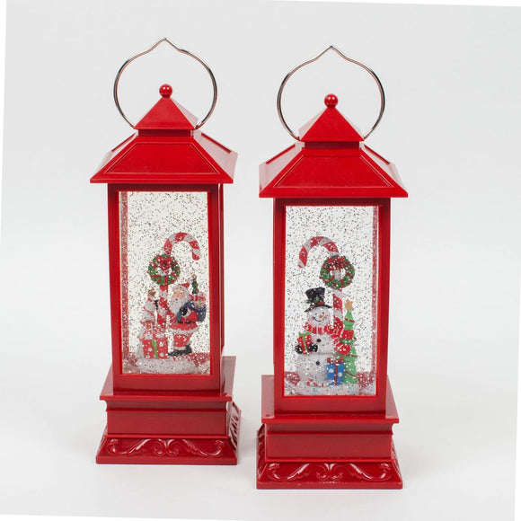 LED Snow Globe Christmas Lantern-Choice of Two designs