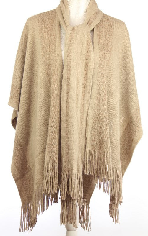 Cape Taupe with Scarf
