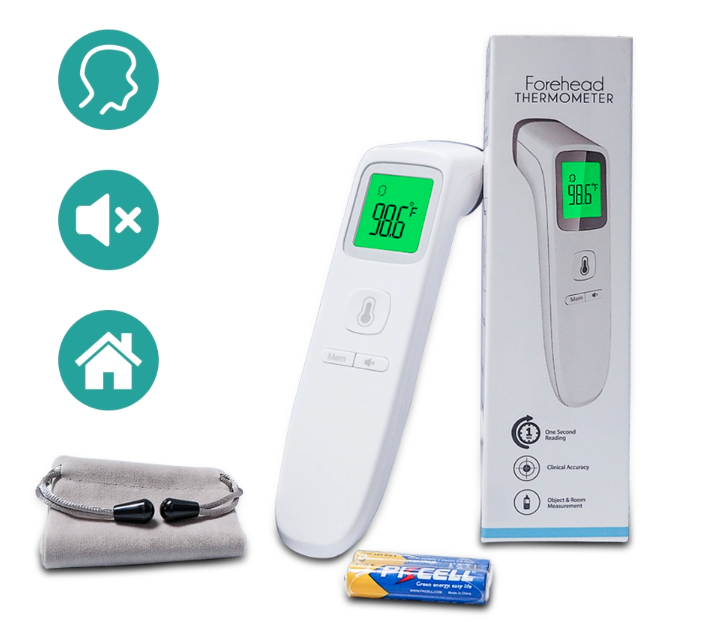 Thermo-X Non Contact Digital Handheld Thermometer Accurate and Instant Temperature Readings CE FDA RoHS Approved Contactless THX-200