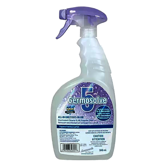 Germosolve 5 Fragrance Free, Spray Bottle