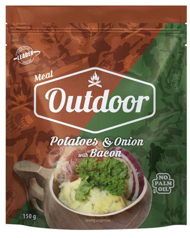 Outdoor Potatoes & Onion with Bacon