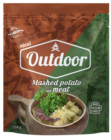 Outdoor Mashed potatoes and meat