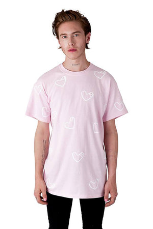 Cockheart all-over Tee in Pink