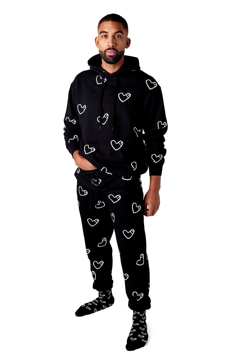 SET Cockhearts Hoodie + Sweatpants + Socks