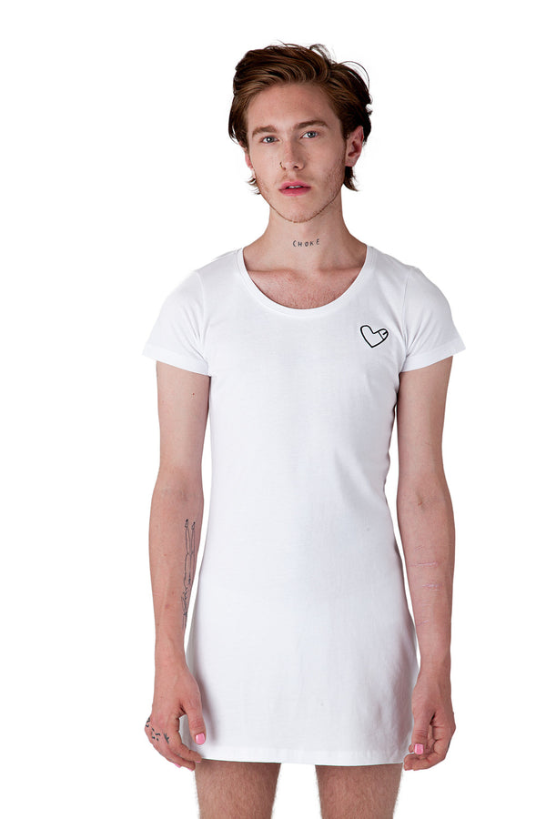 Cockheart Dress with Heart Shaped Like Penis Logo