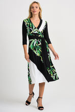 Load image into Gallery viewer, Joseph Ribkoff Black/Multi/Vanilla Dress Style 201175