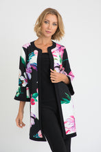 Load image into Gallery viewer, Joseph Ribkoff Black/White/Multi Jacket Style 201292