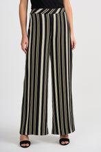 Load image into Gallery viewer, Joseph Ribkoff Black/White/Gold Pants Style 201311