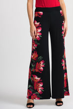 Load image into Gallery viewer, Joseph Ribkoff Black/Multi Pant Style 201358