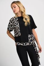 Load image into Gallery viewer, Joseph Ribkoff Black/Beige Top Style 201374