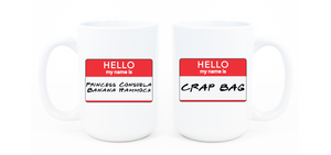 Princess Consuela Banana Hammock & Crap Bag Mug Set