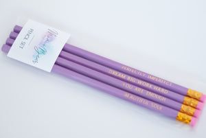 Perfectly Imperfect - Inspirational Pencil Set