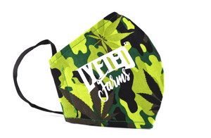 LYFTED - CAMO CANNABIS FACE MASK - WHITE