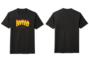 LYFTED - FLAMES TEE - BLACK