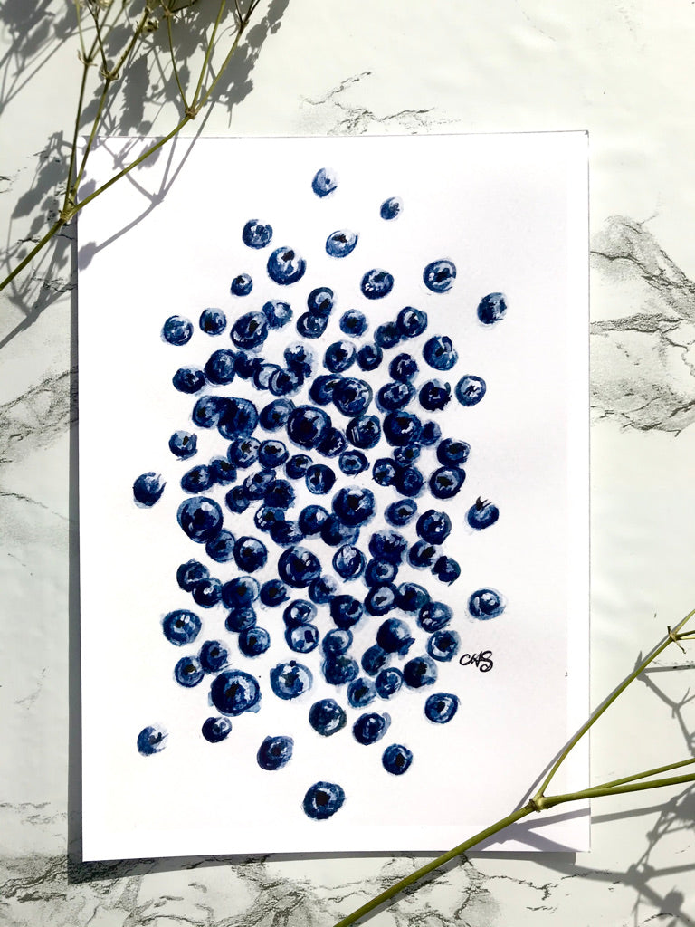 Fallen Blueberries Print
