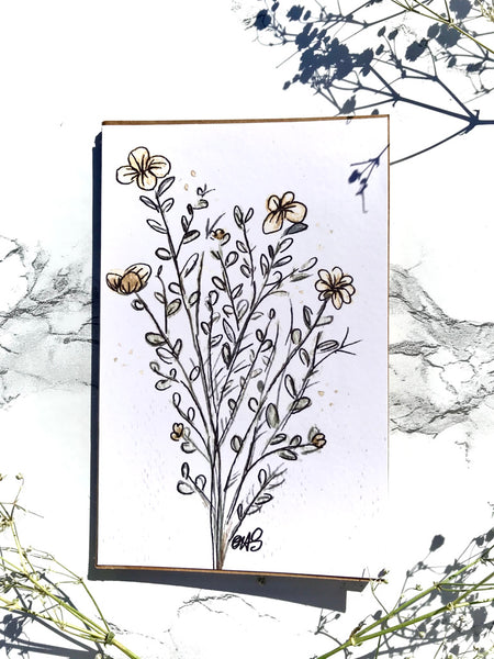 Yellow Flowers Notebook