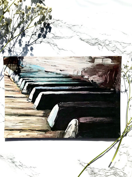 Childhood Piano Print