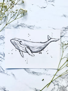 Whale Drawing Print