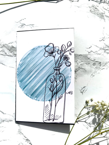 Blue Vase Notebook