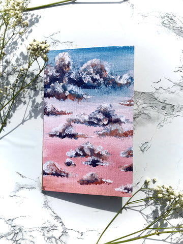 Pink Sunset Clouds Notebook