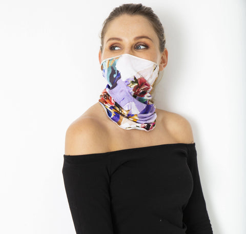 Snoods - Purple & Cobalt (2 in a pack) - Hip Hop Fashion
